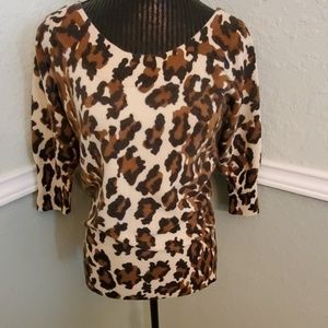 LUCKY BRAND Leopard Print Sweater